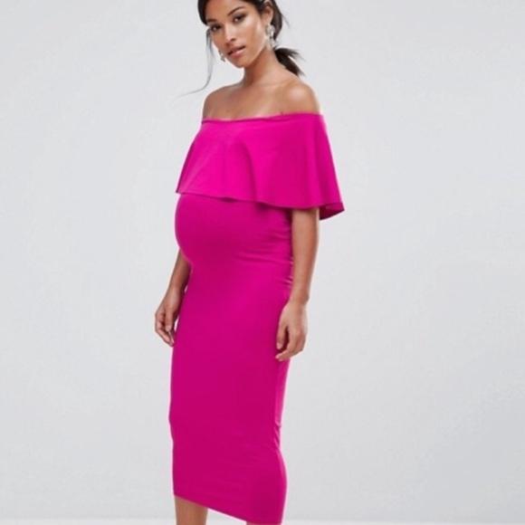 6ff47d812fa ASOS Dresses   Skirts - ASOS hot pink maternity dress